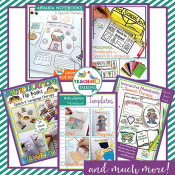 GIANT Notebooks Value Bundle - SLP Interactive Notebooks