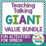 Speech Therapy Activities Bundle Distance Learning