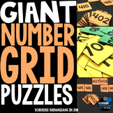 GIANT Number Grid Puzzles to 1000!