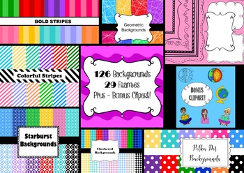 GIANT Seller's Starterkit! - Backgrounds, Frames, and Bonus Clipart