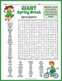 GIANT Spring Break Activity - Word Search Puzzle Worksheet