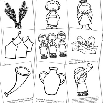 GIDEON Bible Story Coloring Pages | Easy Craft