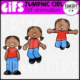 GIF - Jumping Girl Animated Image - {Educlips}