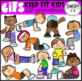 GIF - Keep Fit Kids Animated Images - {Educlips}