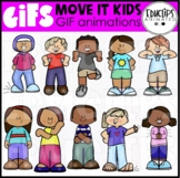 GIF - Move It Kids Animated Images - {Educlips}
