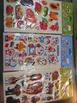 GIFT  CARDS  &  ANIMALS,  CARTOONS  ETC STICKERS ,1  bag
