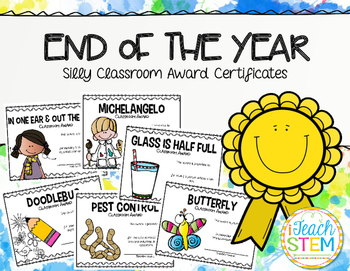 GIFT - End of Year Silly Student Award Certificates