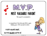 "GIFT - M.V.P. ""Most Valuable Parent"" Appreciation Certificates"