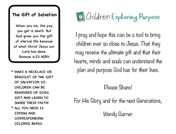 GIFT OF SALVATION 3 PART CARDS