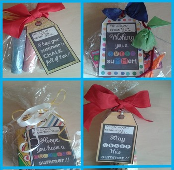 GIFT TAGS- END OF YEAR GIFTS TO STUDENTS