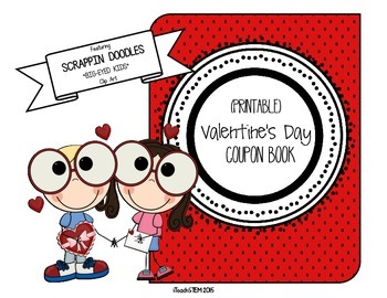 GIFT - Valentine's Day Coupon Book (Scrappin Doodles Clip Art)