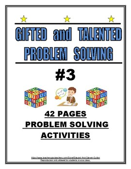 GIFTED AND TALENTED PROBLEM SOLVING #3