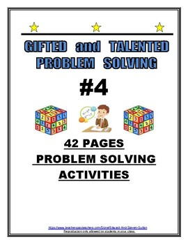 GIFTED AND TALENTED PROBLEM SOLVING #4