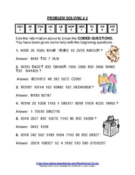 GIFTED AND TALENTED PROBLEM SOLVING #5