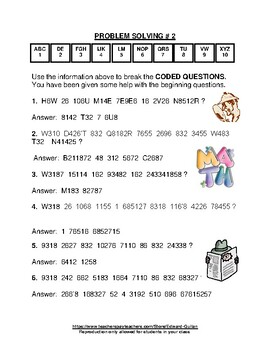 GIFTED AND TALENTED PROBLEM SOLVING #5 AND #6