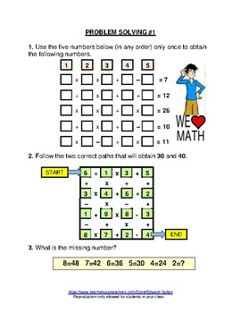 GIFTED AND TALENTED PROBLEM SOLVING #6