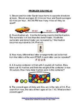 GIFTED AND TALENTED PROBLEM SOLVING #7 and #8