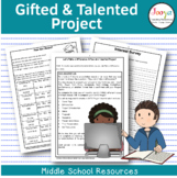 GIFTED AND TALENTED PROJECT - Let's Make a Difference