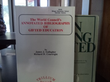 GIFTED EDUCATION      ON BEING GIFTED   SET OF 2