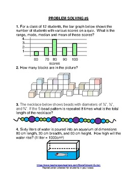 GIFTED AND TALENTED PROBLEM SOLVING #7