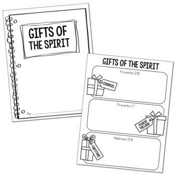 GIFTS OF THE SPIRIT Illustrated Notes | Christian Activity | Religious Project