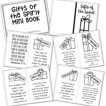 GIFTS OF THE SPIRIT Posters, Coloring Pages, and Mini Book Set