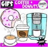 GIFs - FREE COFFEE & DONUT - Animated Images - {Educlips}