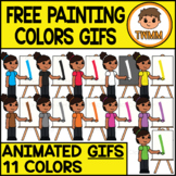 GIFs - FREE Painting Colors - Animated Digital Clipart Ima