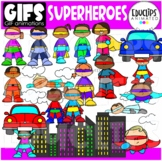 GIFs - SUPERHEROES - Animated Images - {Educlips}