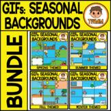 GIFs - Seasonal Backgrounds Bundle - Animated Digital Clip
