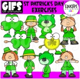 GIFs - St Patrick's Day Exercises - Animated Images - {Educlips}