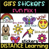GIFs Stickers FUN mix #1   Distance Learning ❤️ Animated C