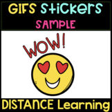 GIFs Stickers SAMPLE   Distance Learning ❤️ Animated Clipart❤️