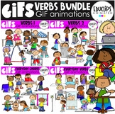 GIFs - Verbs Bundle - Animated Images - {Educlips}