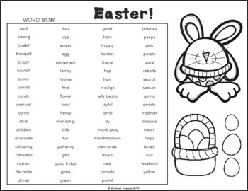 GIGANTIC Word Searches! (Easter, Spring, Summer)