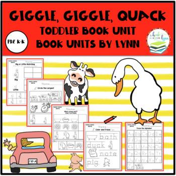 GIGGLE, GIGGLE, QUACK TODDLER BOOK UNIT