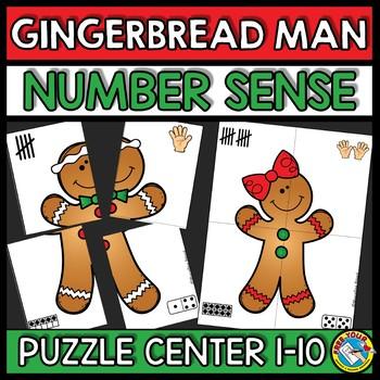 GINGERBREAD MAN ACTIVITY KINDERGARTEN (CHRISTMAS NUMBER SENSE CENTER 1-10)
