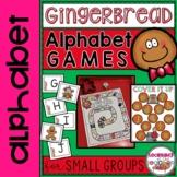 Gingerbread Alphabet Letter Recognition Games