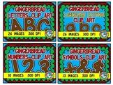 GINGERBREAD CLIP ART BUNDLE (CHRISTMAS CLIPART LETTERS)