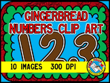GINGERBREAD CLIPART SET: GINGERBREAD NUMBERS: GINGERBREAD