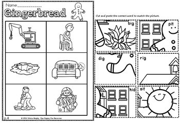 GINGERBREAD CVC SHORT I PICTURE SORT