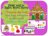 GINGERBREAD! Interactive Sight Word Book and Big Book - Prek and K!