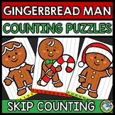 GINGERBREAD MAN ACTIVITY 1ST GRADE (CHRISTMAS SKIP COUNTING PUZZLES FOR DECEMBER