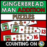 GINGERBREAD MAN ACTIVITY KINDERGARTEN MATH (ADDITION COUNT