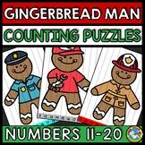 GINGERBREAD MAN ACTIVITY KINDERGARTEN (TEEN NUMBER CHRISTMAS MATH) 11 TO 20