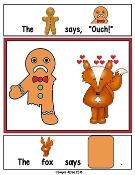 GINGERBREAD MAN-ADAPTED BOOK (Autism/Special Ed/ELL)