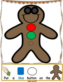 MAKE A GINGERBREAD MAN-ADAPTED BOOK (PreK-K/SPED/ELL)