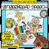 GINGERBREAD MAN ARTICULATION NO PREP worksheets SPEECH THERAPY