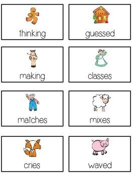 GINGERBREAD MAN Inflectional Word Endings - ELA First Grade Game - Word Work