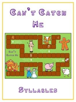 GINGERBREAD MAN Syllables - ELA First Grade Folder Game -